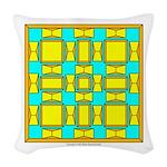 Dutch Gold And Yellow Design Woven Throw Pillow