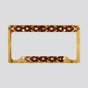 Harvest Moons Viking Braid License Plate Holder