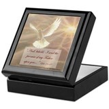 Dove on Square Keepsake Boxes
