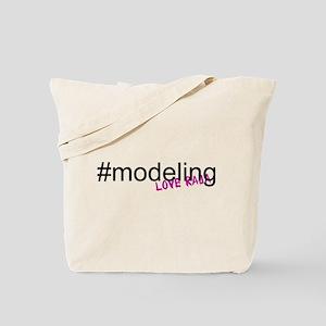 Hashtag #Modeling Tote Bag