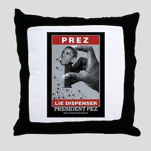 President Pez Lie Dispenser Throw Pillow