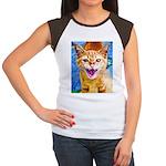 Krazy Kitten  Women's Cap Sleeve T-Shirt