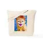 Krazy Kitten  Tote Bag