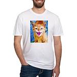 Krazy Kitten  Fitted T-Shirt