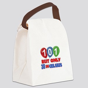 101 year old designs Canvas Lunch Bag