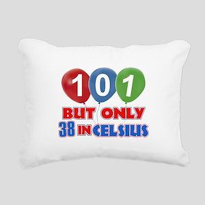 101 year old designs Rectangular Canvas Pillow