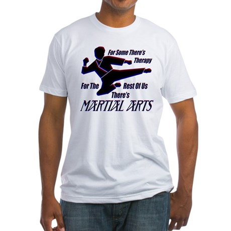 Martial Arts Therapy Fitted T-Shirt