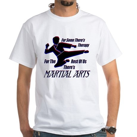 Martial Arts Therapy White T-Shirt