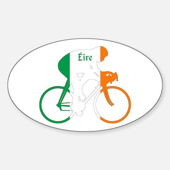 Irish Cycling Sticker (Oval)