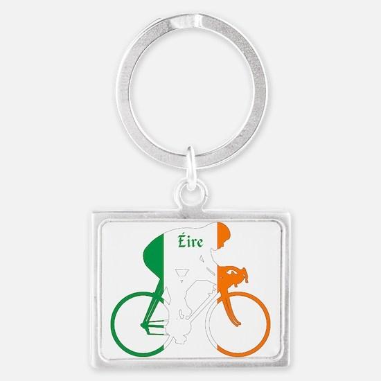 Irish Cycling Landscape Keychain