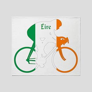 Irish Cycling Throw Blanket