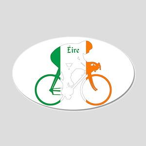 Irish Cycling 35x21 Oval Wall Decal