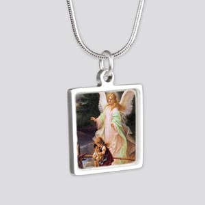 Guardian Angel with Children on Bridge Necklaces