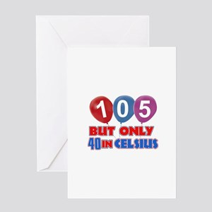 105 year old designs Greeting Card
