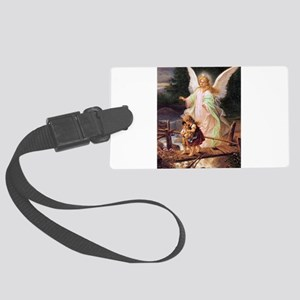 Guardian Angel with Children on Bridge Luggage Tag