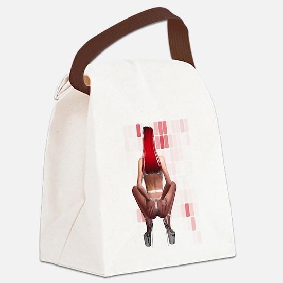 Latex Ponygirl Canvas Lunch Bag