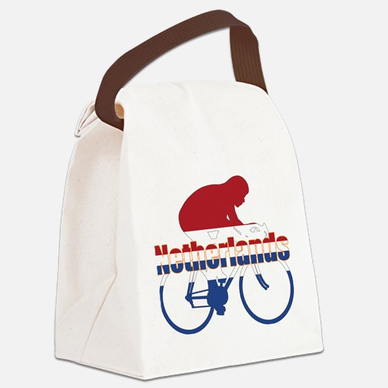 Netherlands Cycling Canvas Lunch Bag