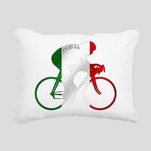 Italian Cycling Rectangular Canvas Pillow