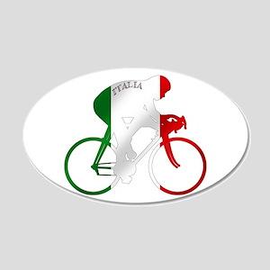 Italian Cycling 35x21 Oval Wall Decal