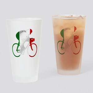 Italian Cycling Drinking Glass