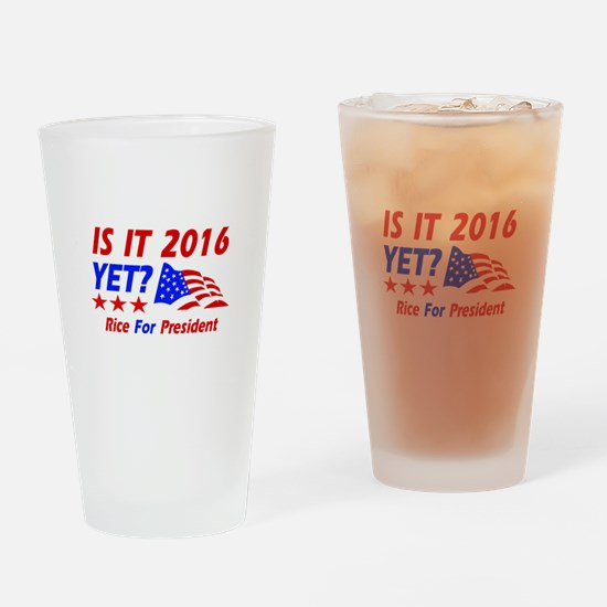 Rice For President Drinking Glass