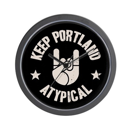 Keep Portland Atypical Wall Clock