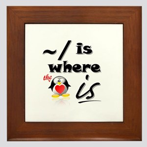Home is Where the Heart Is! Framed Tile
