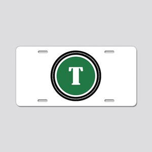 Green Aluminum License Plate