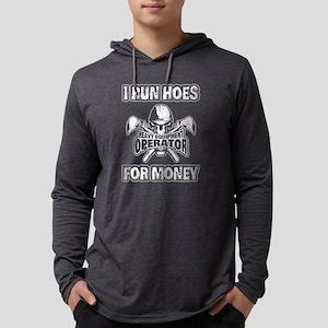 Heavy Equipment Operator Mens Hooded Shirt