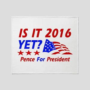 Pence for president Throw Blanket