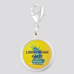 Libertarian Party Silver Round Charm