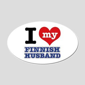 I love my Finnish Husband 20x12 Oval Wall Decal