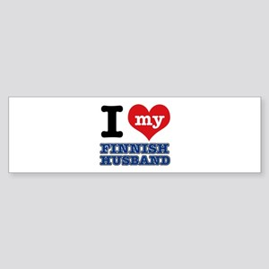 I love my Finnish Husband Sticker (Bumper)