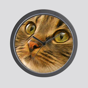 Artful Cat Wall Clock
