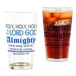 Revelation 4:8 Drinking Glass