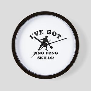 I've got Ping Pung skills Wall Clock