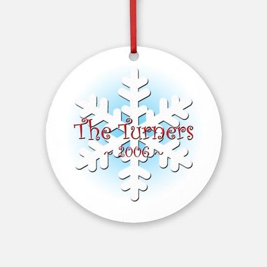 Snowflake - Turner Ornament (Round)