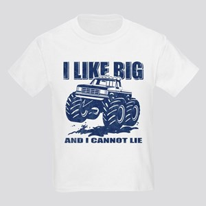 I Like Big Trucks Kids Light T-Shirt
