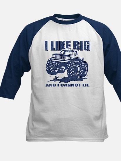 I Like Big Trucks Kids Baseball Jersey