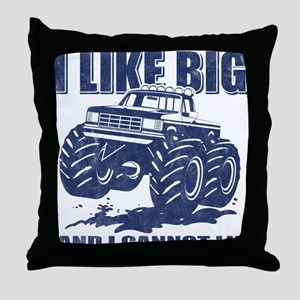 I Like Big Trucks Throw Pillow