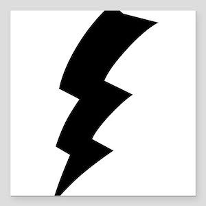 "CB Lightning Bolt T-Shirt Square Car Magnet 3"" x 3"