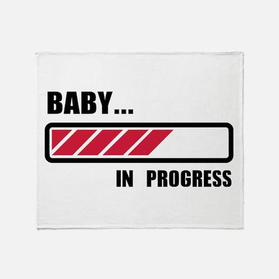 Baby in progress loading Throw Blanket