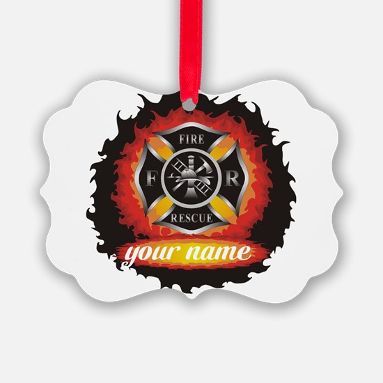 Personalized Fire and Rescue Ornament