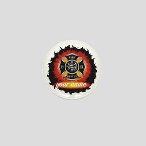 Personalized Fire and Rescue Mini Button