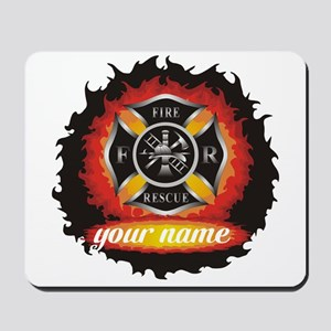 Personalized Fire and Rescue Mousepad