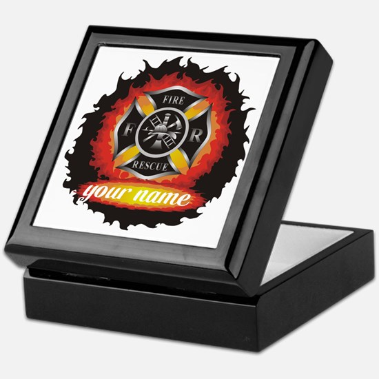 Personalized Fire and Rescue Keepsake Box