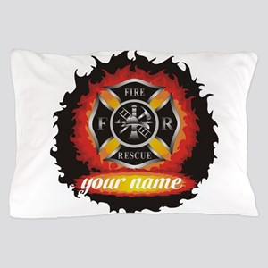 Personalized Fire and Rescue Pillow Case