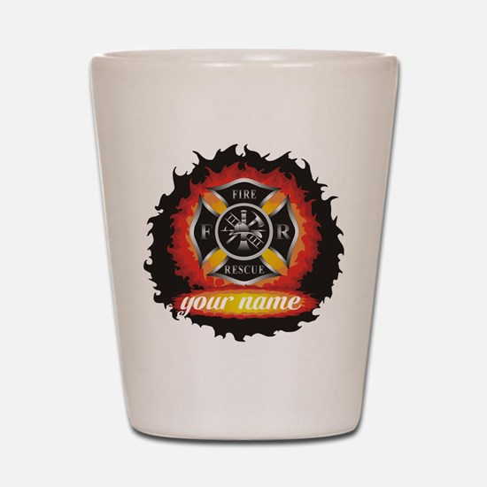 Personalized Fire and Rescue Shot Glass