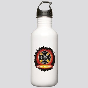 Personalized Fire and Rescue Water Bottle