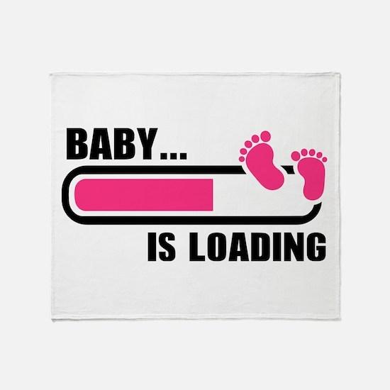 Baby loading bar Throw Blanket